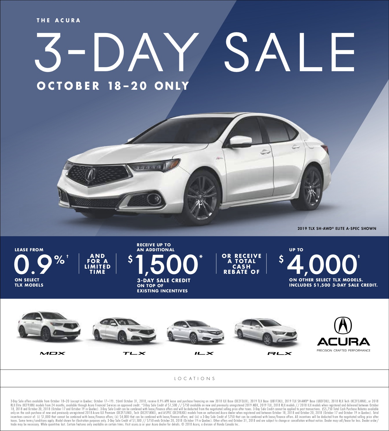 3 Day Sale TLX